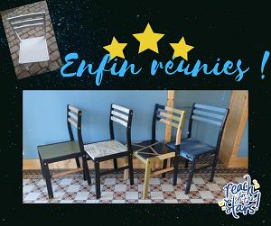 4 chaises relookées selon différents styles